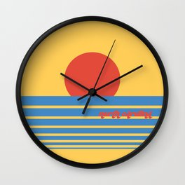North Carolina Sun Wall Clock