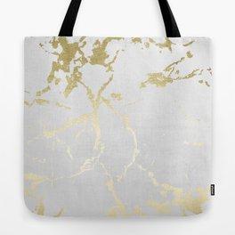 Kintsugi Ceramic Gold on Lunar Gray Tote Bag