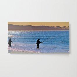Fishing Beach Metal Print