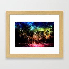 One Magical Night ( Rainbow ) Framed Art Print