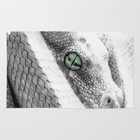 snake Area & Throw Rugs featuring Snake by donotseemeart