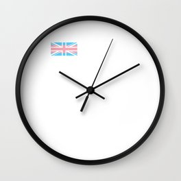 Gay Pride LGBT Trans UK Union Jack Flag Stripes design Wall Clock