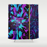 picasso Shower Curtains featuring Picasso Mirage by Sha Mitchell