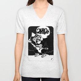 """2High """"Moonshine"""" Black and White Printed Ed. Unisex V-Neck"""