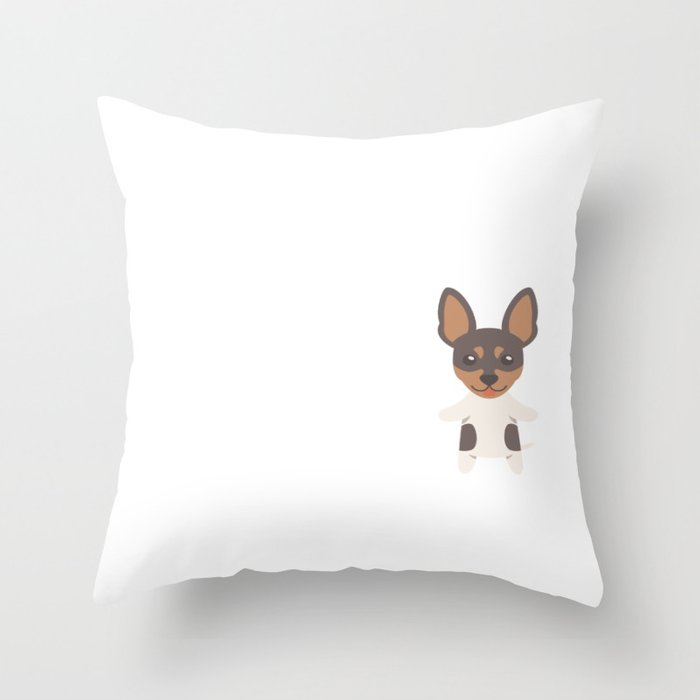 My Toy Fox Terrier Makes Me Happy Throw Pillow By Dogboo Society6