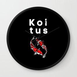 KOItus Funny Aquarium Saying Wall Clock