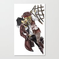 pirates Canvas Prints featuring PIRATES. by Maryne.