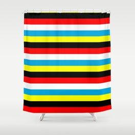 Antigua And Barbuda Flag Stripes Shower Curtain