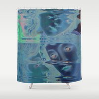 renaissance Shower Curtains featuring The Renaissance Glitch by Norms