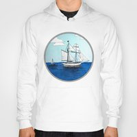 pirates Hoodies featuring Chasing Pirates by Jamie Marie Lyon
