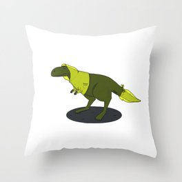 skeptic tyrannosaurus Throw Pillow
