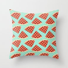 Juicy Melons Throw Pillow