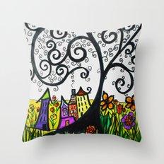 Monday Whimsy Doodle _original Throw Pillow