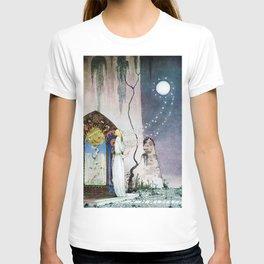 12,000pixel-500dpi - Kay Nielsen - Lassi Opens The Forbidden Open Door And Escapes The Moon T-shirt