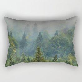 Misty Forest Beauty Rectangular Pillow