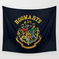 hufflepuff Wall Tapestries featuring HGWRT by MrWhite