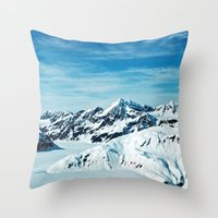 alaska Throw Pillows featuring Alaska by Elise Giordano