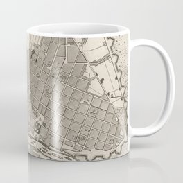 Vintage Map of Lima Peru (1764) Coffee Mug