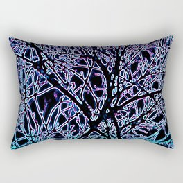 Tangled Tree Branches in Blue and Teal Rectangular Pillow