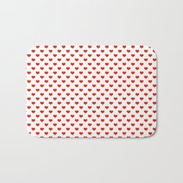 '80s Hearts - Red 2 - Back to Basics Bath Mat