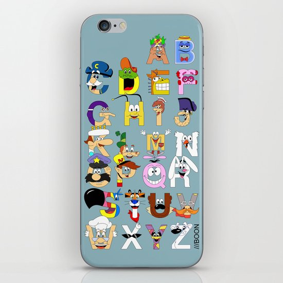 Breakfast Mascot Alphabet iPhone & iPod Skin