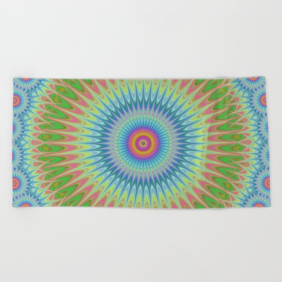 Starry mandala Beach Towel