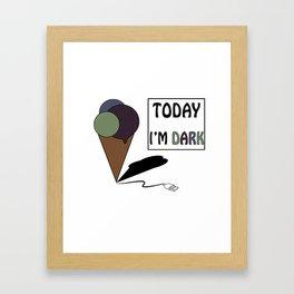 gelatoUsb - today i'm DARK Framed Art Print