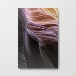 Natural Abstract from a Slot Canyon on the Navajo Reservation Metal Print