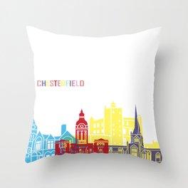 Chesterfield UK skyline pop Throw Pillow