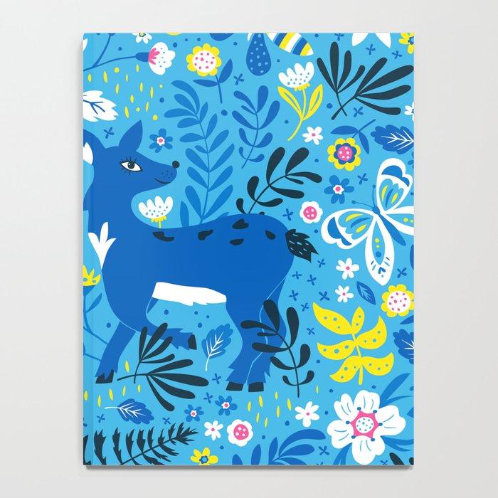 Deer and Butterflies (Sky Blue) Notebook