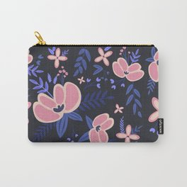 Pink Flowers Pattern 1 Carry-All Pouch