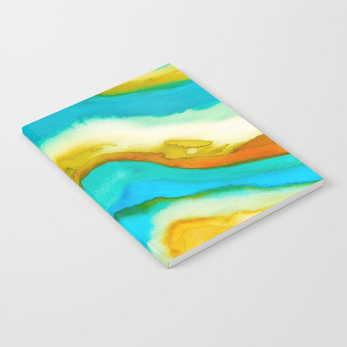 AGATE Inspired Watercolor Abstract 10 Notebook