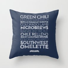 Denver — Delicious City Prints Throw Pillow