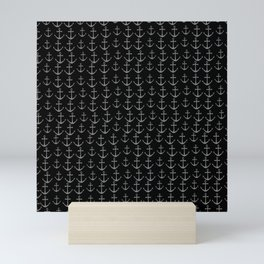 Anchor pattern, sailor Mini Art Print