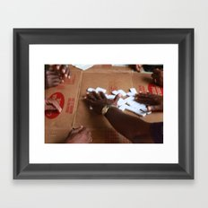 DOMINOS. Framed Art Print