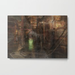 Industrial Decay Metal Print
