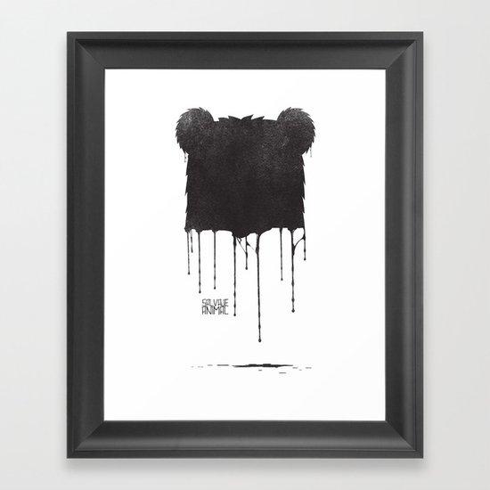 SALVAJEANIMAL Drops Framed Art Print