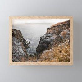 Coastal landscape Framed Mini Art Print