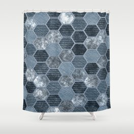 Abstract Jeans Shower Curtain