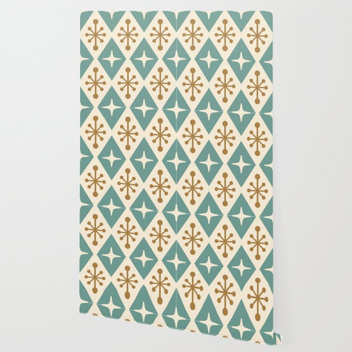 Mid Century Modern Atomic Triangle Pattern 102 Wallpaper