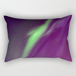 Beautiful northern lights in the sky. Aurora borealis, Kiruna, Sweden. Rectangular Pillow