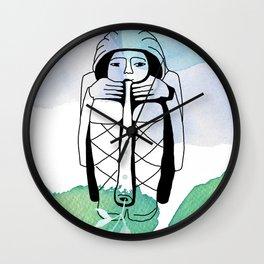 Zephyr, God of wind Wall Clock