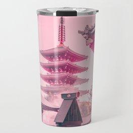 Pink Senso-Ji Travel Mug