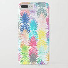 Hawaiian Pineapple Pattern Tropical Watercolor Slim Case iPhone 7 Plus