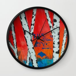 Live and Love Birch Wall Clock