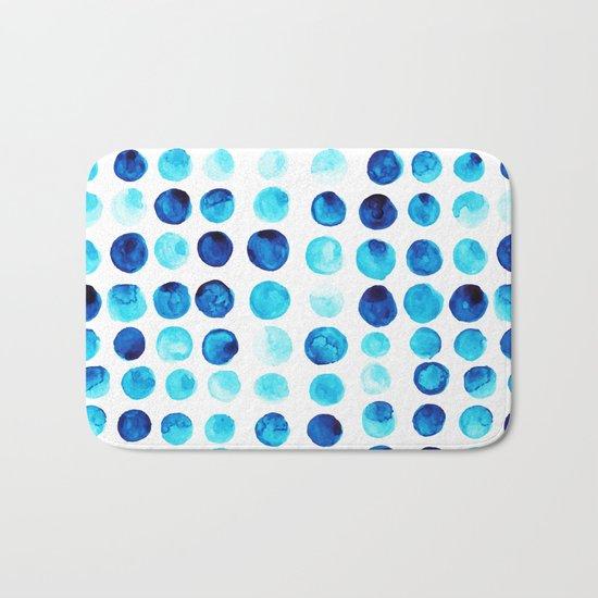 Blue dots Bath Mat