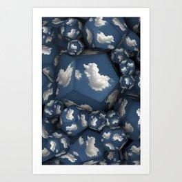 Duck Clouds Art Print