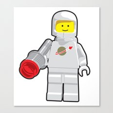 Vintage Lego White Spaceman Minifig Canvas Print