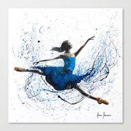 Blue Season Ballerina Canvas Print