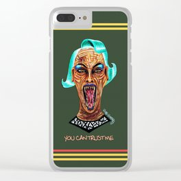Never Trust a Monster Clear iPhone Case